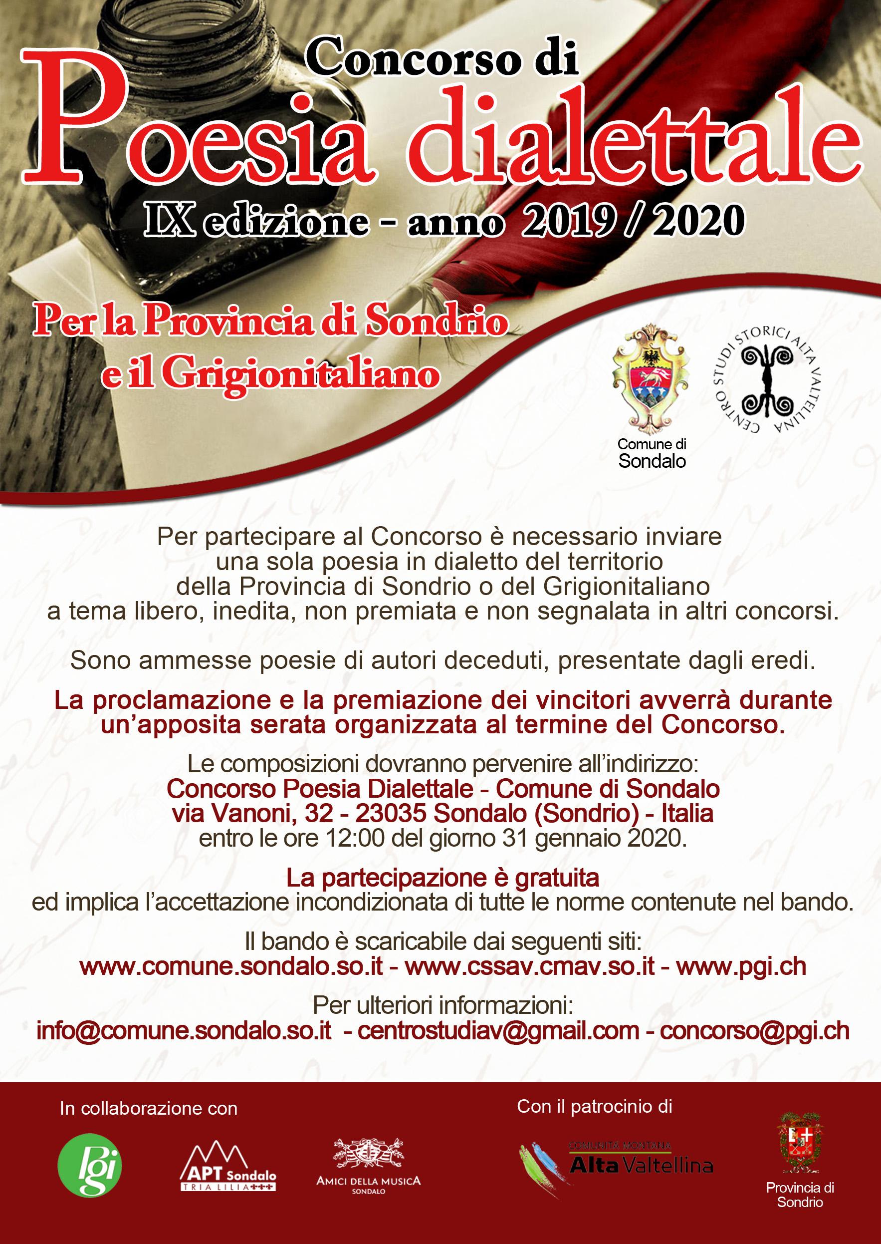 notizie da Sondrio e provincia » Ritorna il concorso di poesia dialettale - Valtellina News