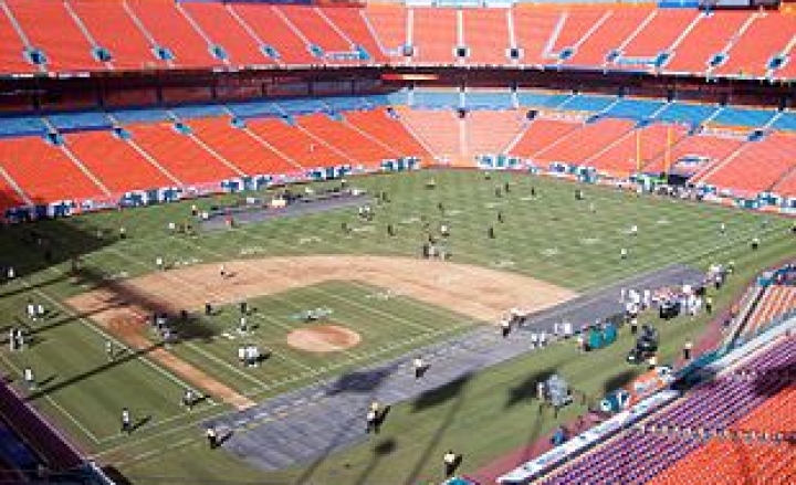 Dolphin Stadium baseball diamond